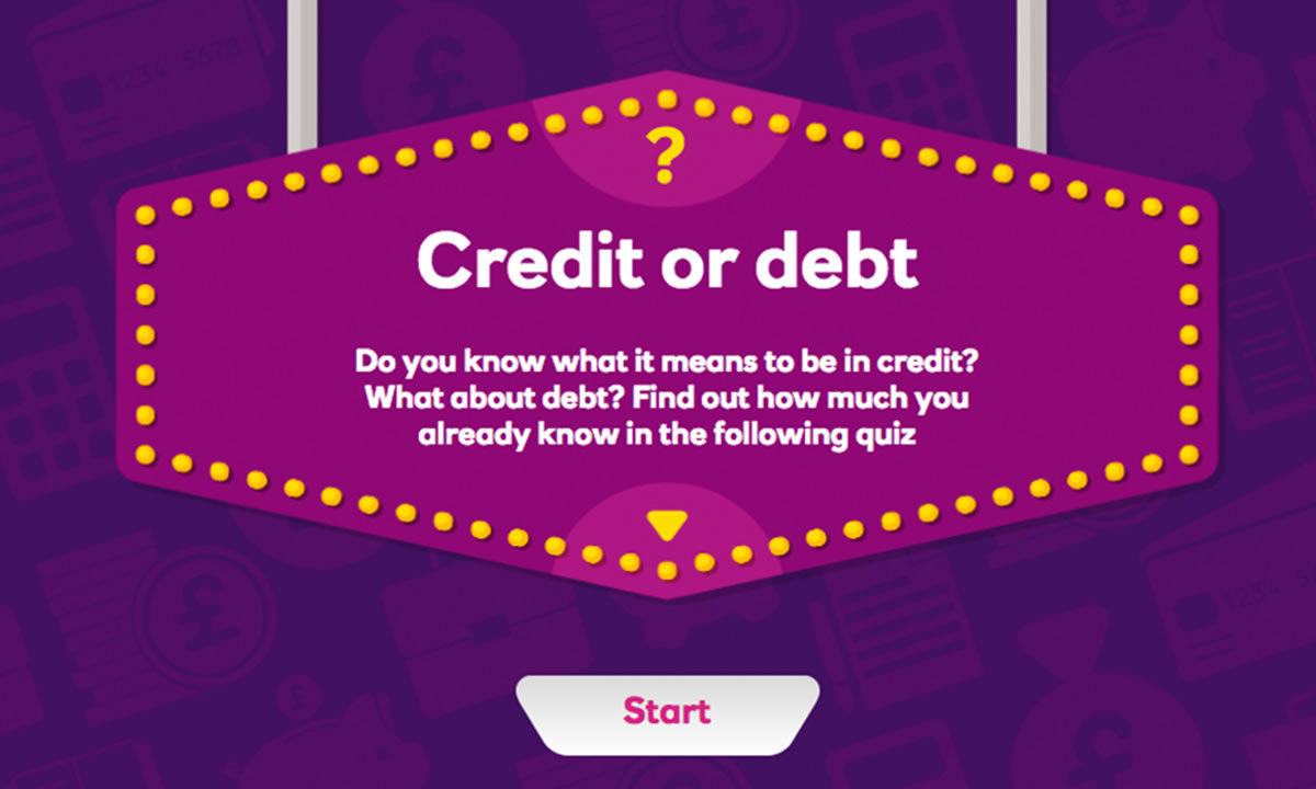 Interactive activity for How can I understand credit and debt?