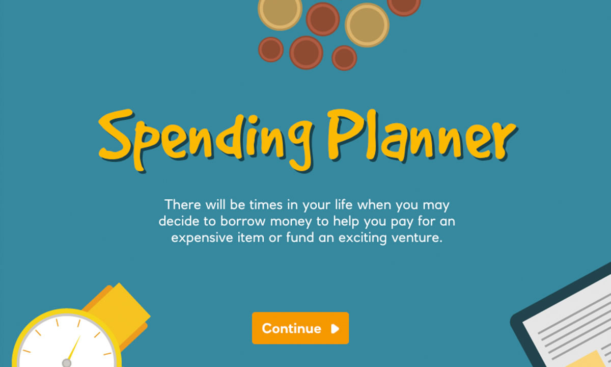 Interactive for When might I need to borrow money?