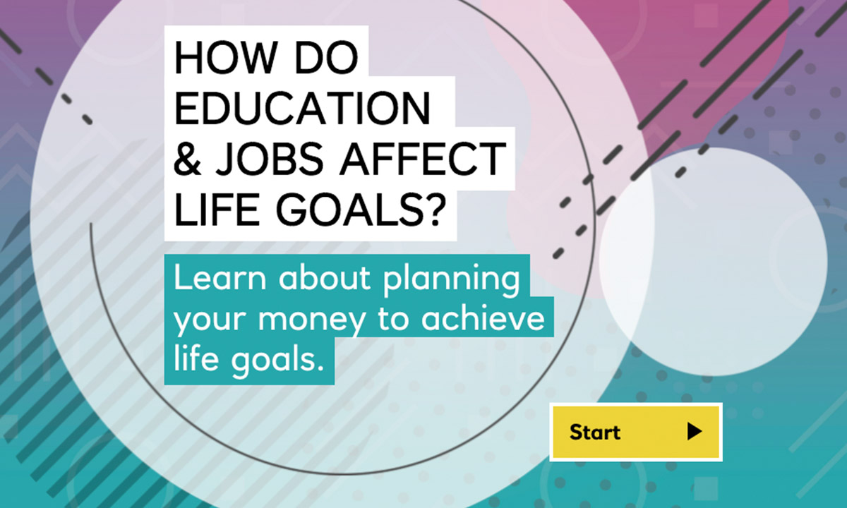 Interactive for How will my education and job choices affect my finances?
