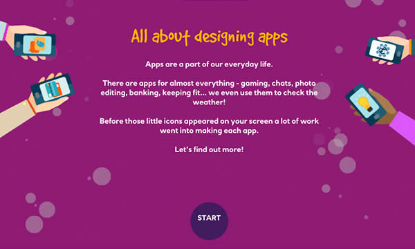 All about designing apps interactive activity