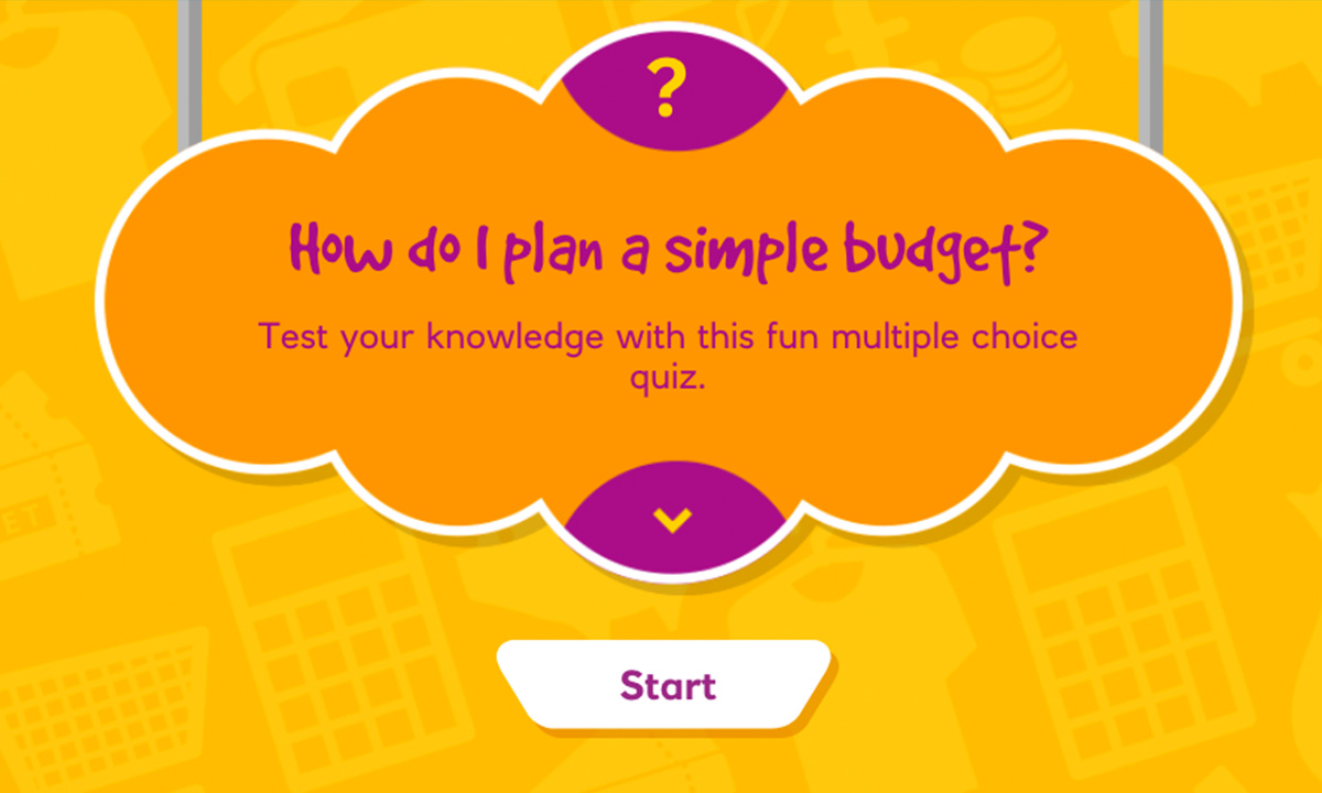 Interactivity activity for How do I plan a simple budget?