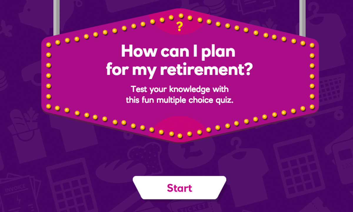 Interactive activity for How can I plan for my retirement?