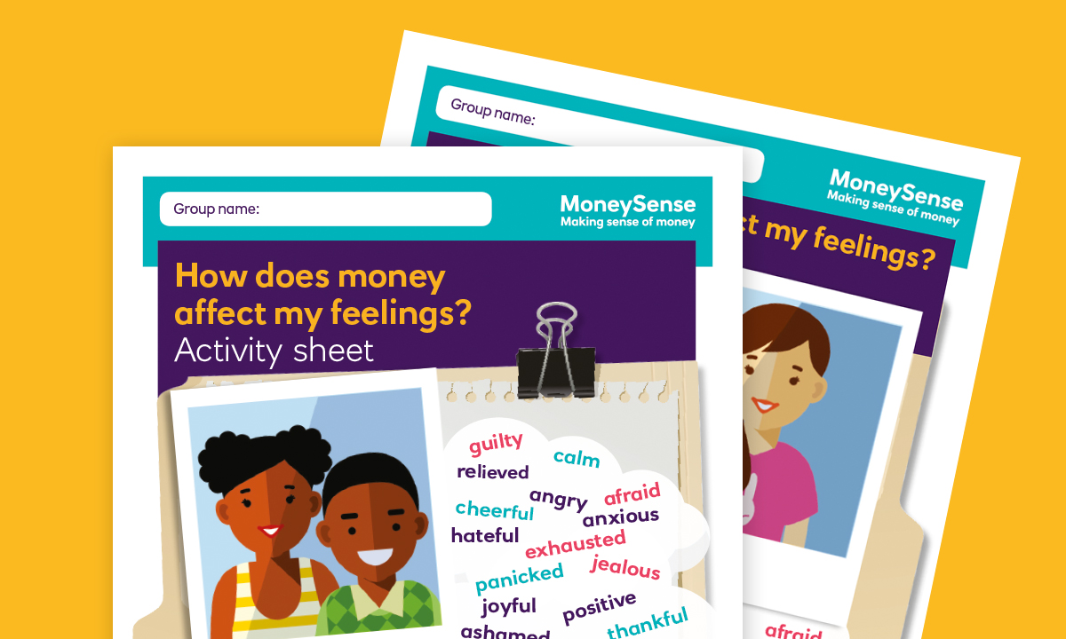 Activity sheet for How does money affect my feelings?