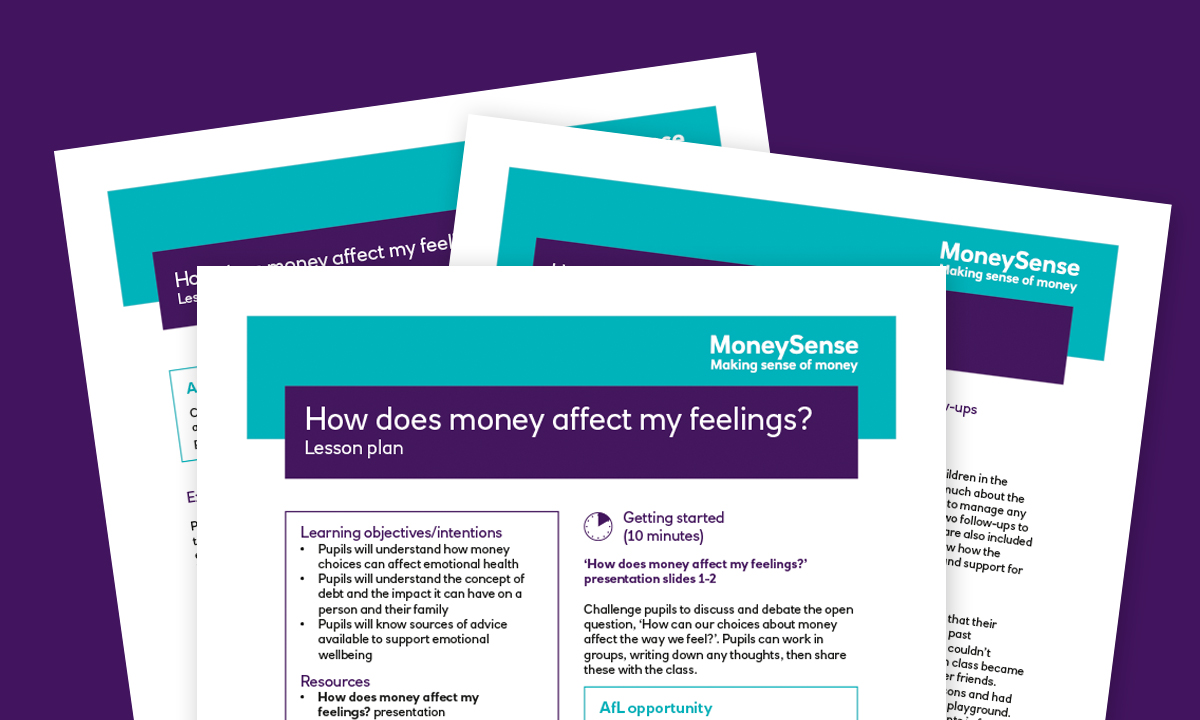 Lesson plan for How does money affect my feelings?