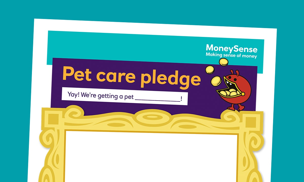 Pet care pledge poster