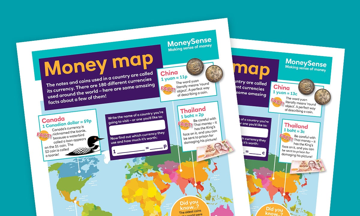 Money map poster