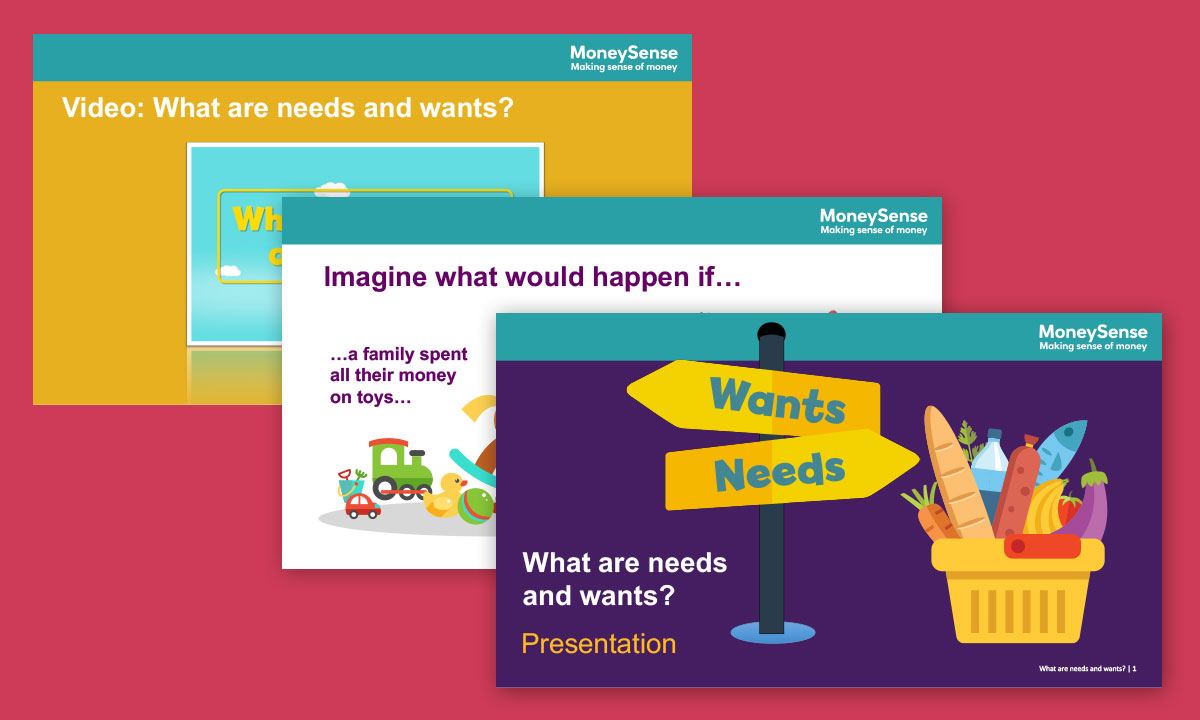 Presentation for What are needs and wants?