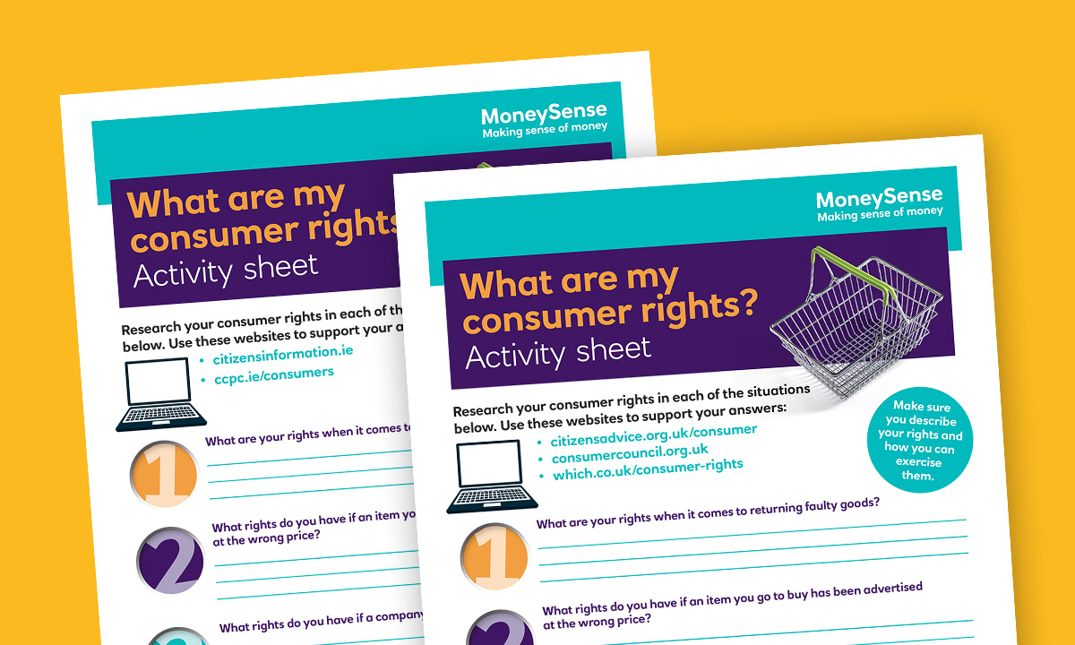 Activity sheet for What are my consumer rights?
