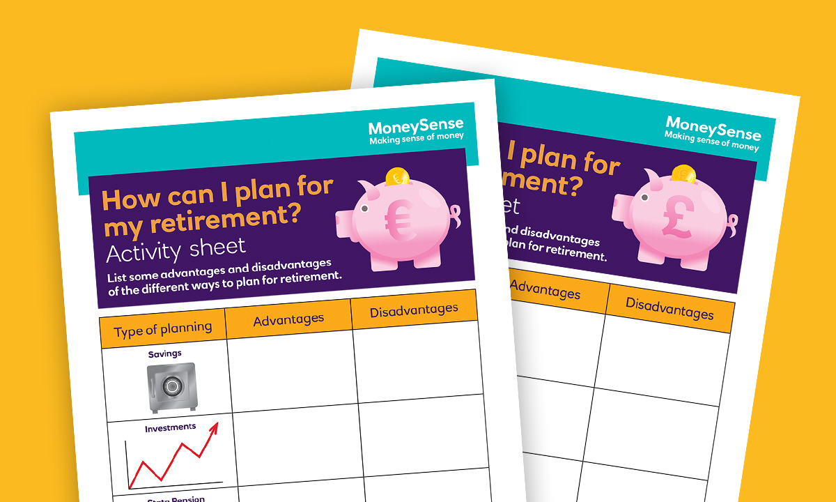 Activity sheet for How can I plan for my retirement?
