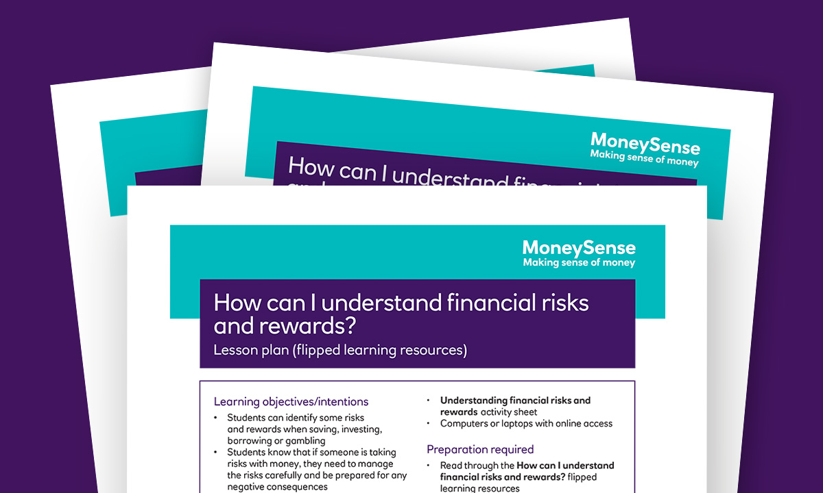 Lesson plan for How can I understand financial risks and rewards?